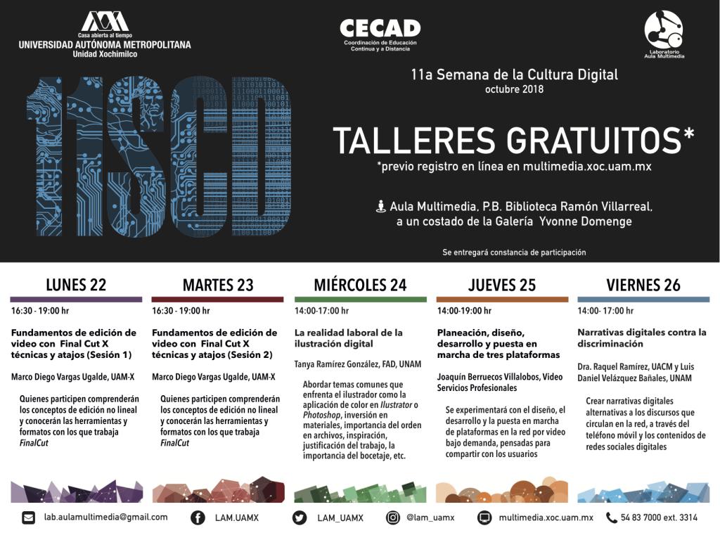 Conferencias - 11ª Semana de la Cultura Digital en la UAM Xochimilco
